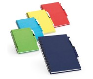 BLOC NOTES SPIRALE AVEC COUVERTURE RIGIDE